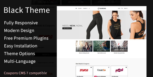 Black Theme for Coupons CMS