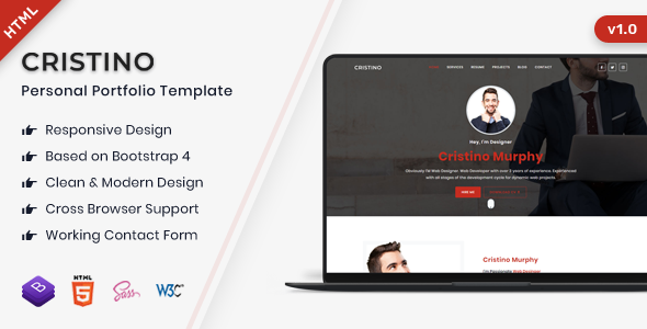 Cristino - Responsive Personal Portfolio Template