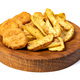 Tasty fried nuggets and potatoes - PhotoDune Item for Sale