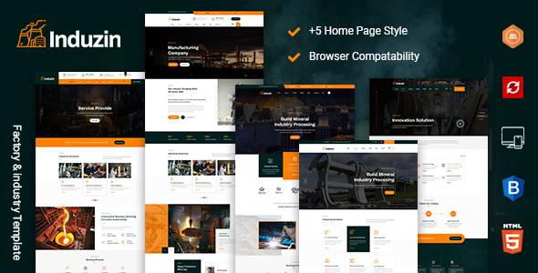 induzin - Industry & Factory HTML Template by TonaTheme