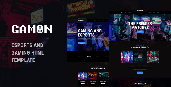 Awesome Gamon - eSports and Gaming HTML Template
