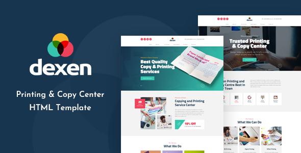 Dexen - Printing and Copy Center HTML Template by TonaTheme