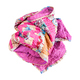 crumpled stitched patchwork scarf from silk strips - PhotoDune Item for Sale