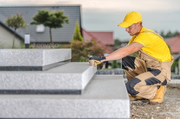 Concrete Stairs Building - Stock Photo - Images
