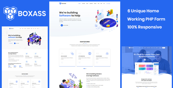 Boxass - Startup Landing Page Template