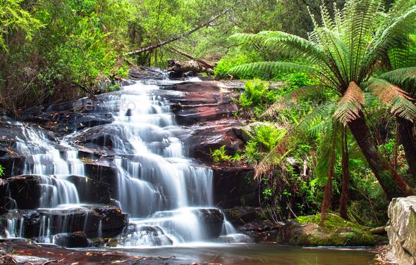 Cora Lynn Falls, Australia - Stock Photo - Images