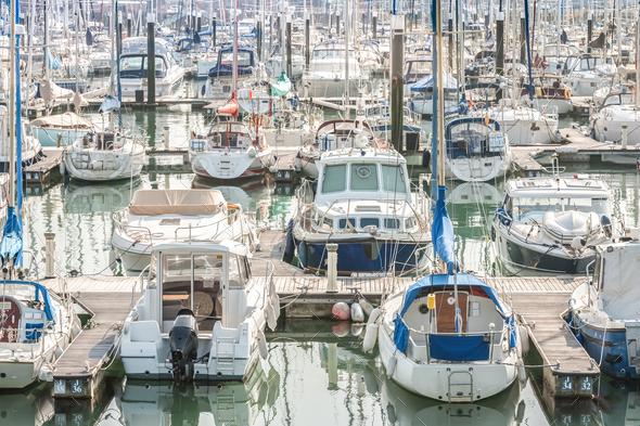 yacht and boat marina - Stock Photo - Images