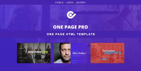 One Page Pro - Multi Purpose HTML Template