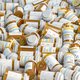 Prescription mdeicine pill bottles background. Medicine and phar - PhotoDune Item for Sale