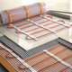 Underfloor heating installation concept. Mat elecric heating sys - PhotoDune Item for Sale