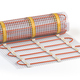 Mat electric floor heating system isolated on white. Heated warm - PhotoDune Item for Sale