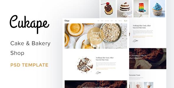 Cukape - Restaurant Cakes and Coffee Shop Template by heloshape