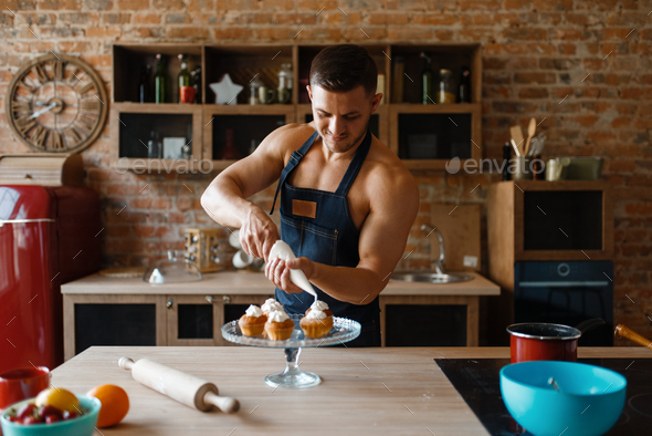 Naked Man In Apron