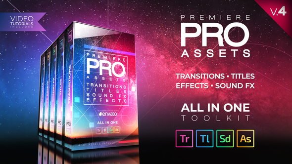400+ Pack: Transitions, Titles, Sound FX