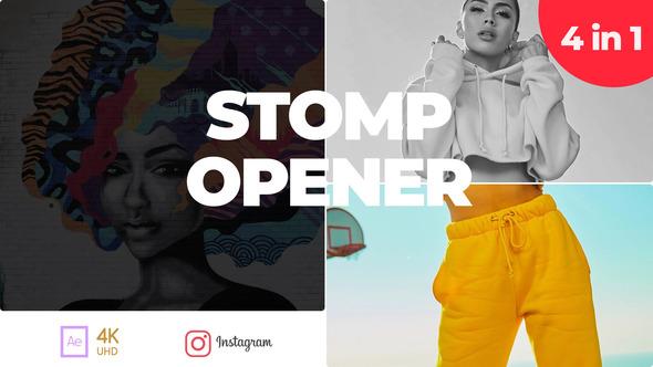 Typography Stomp Opener