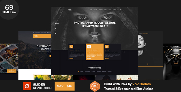 Potolia - Multipurpose Photography HTML Template by voidcoders