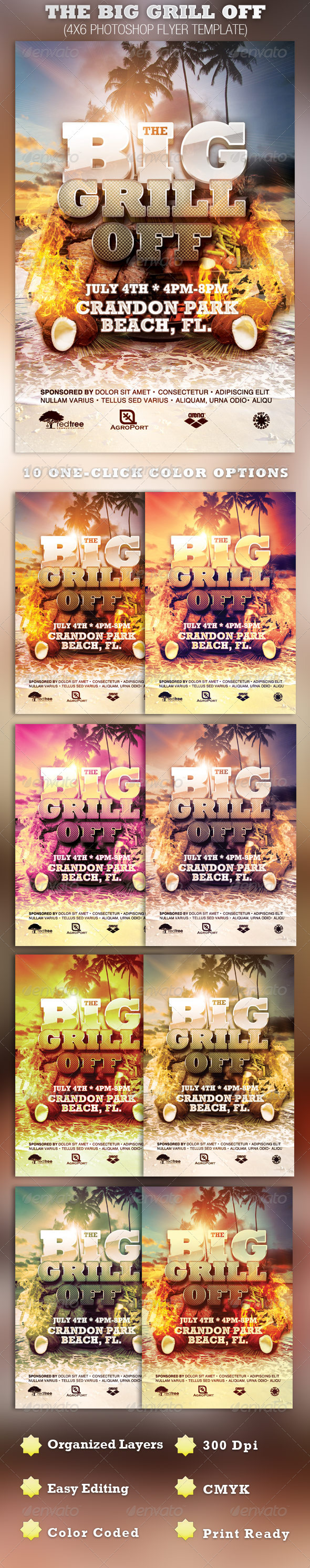 The Big Grill Off Flyer Template - Events Flyers