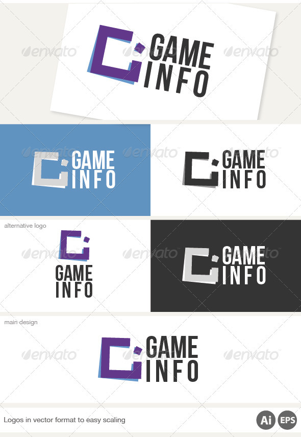 Game Info Logo - Letters Logo Templates
