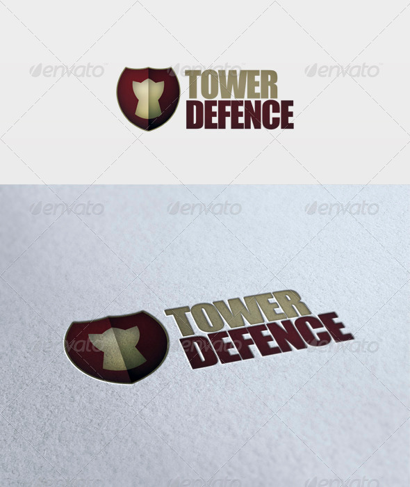 Tower Defence Logo - Symbols Logo Templates