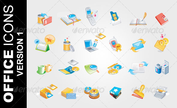 Office Icons Ver. 1 - Business Icons