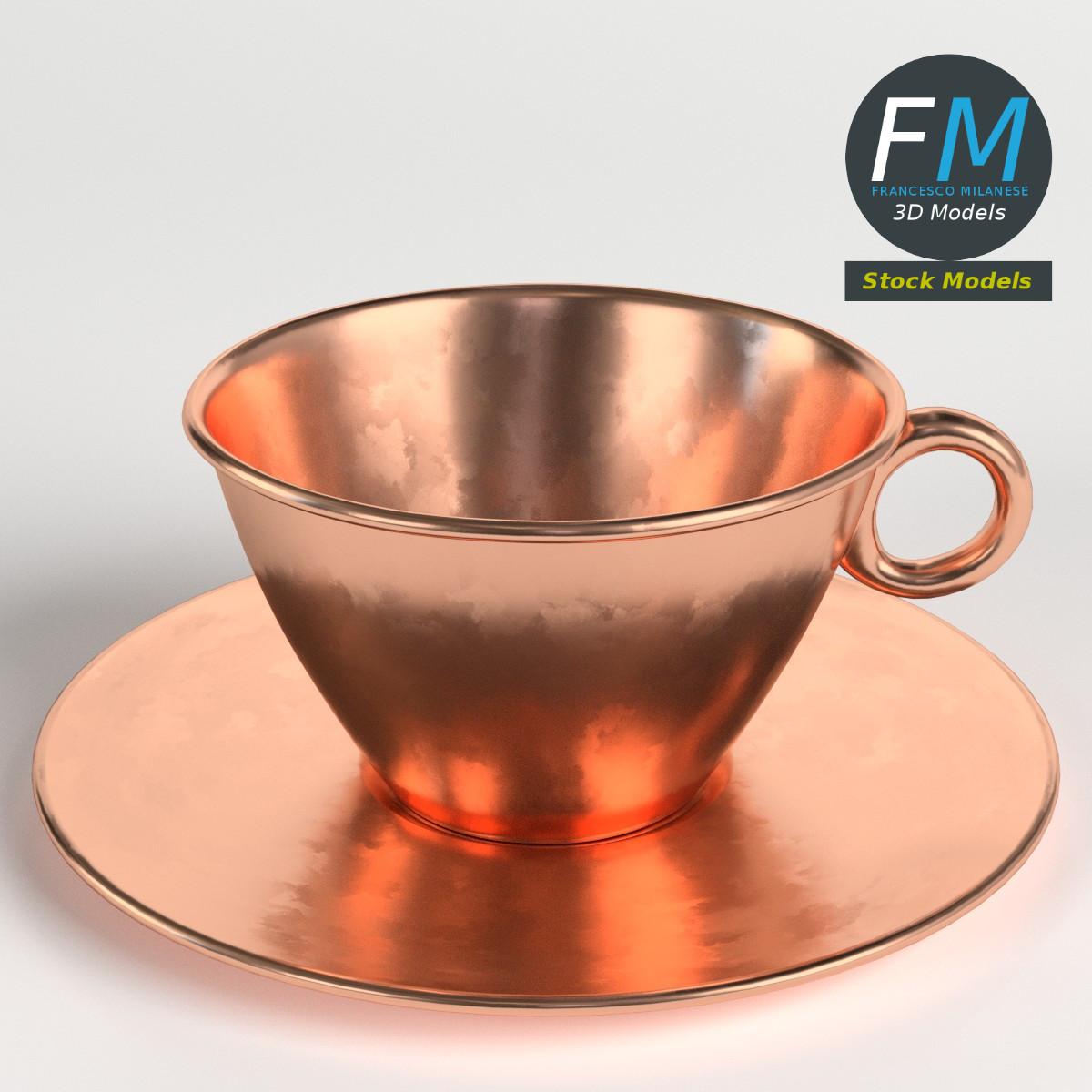 Pure copper tea cup