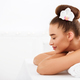 Relaxed woman resting at spa with closed eyes - PhotoDune Item for Sale