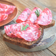 Sandwiches with salami on the wooden board - PhotoDune Item for Sale