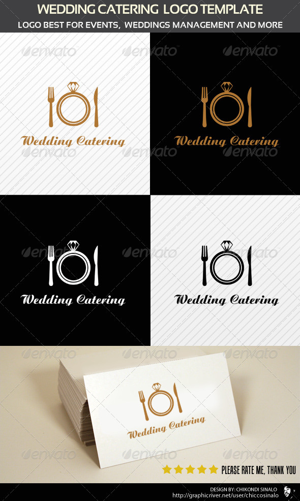 Wedding Catering Logo Template - Abstract Logo Templates