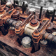 Aged engine of old homemade tractor. - PhotoDune Item for Sale