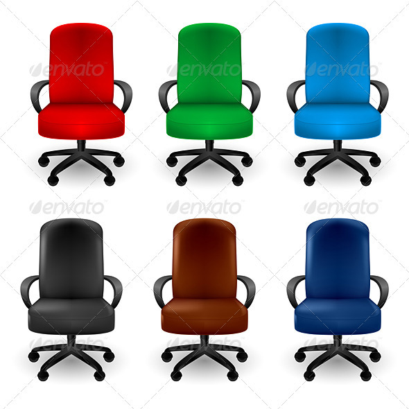 Office Armchairs - Man-made Objects Objects