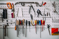 Workshop Wall of various tools and instruments - PhotoDune Item for Sale
