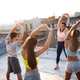 Group of happy fit friends exercising outdoor in city - PhotoDune Item for Sale