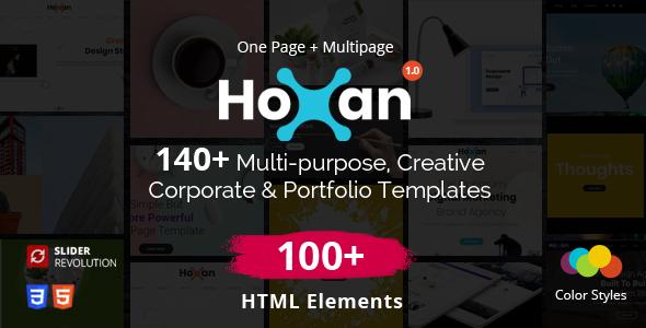 Hoxan - Multipurpose Creative HTML5