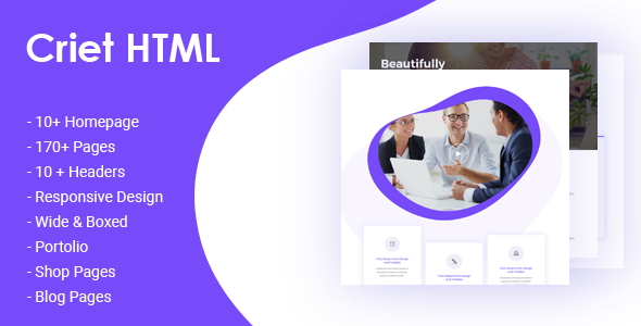Criet | Responsive Multipurpose HTML5 Website Template by codelayers
