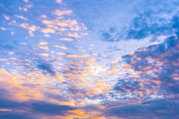 Beautiful cloud around sky at sunrise time - Stock Photo - Images
