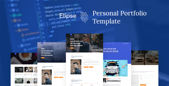 Elipse - Personal Portfolio HTML5 Template by electronthemes