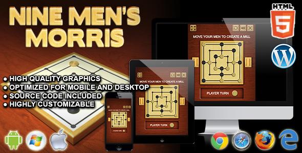 Nine Men S Morris Html5 Board Game By Codethislab Codecanyon