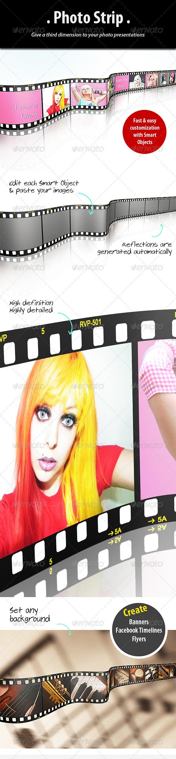 Photo Strip Template - Tech / Futuristic Photo Templates