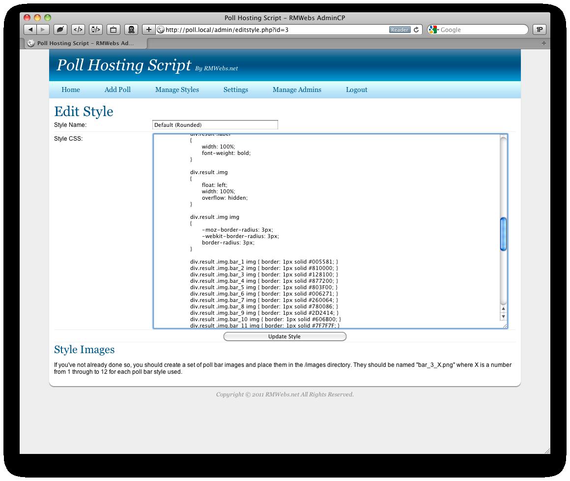 Poll Hosting Script by rmwebs | CodeCanyon