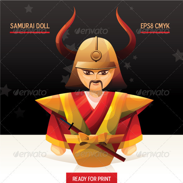 Samurai doll - Characters Vectors