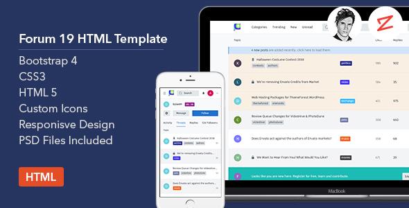 Forum19 -  HTML Template