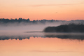 Moody Morning Fog over a lake - PhotoDune Item for Sale