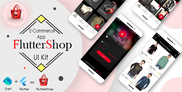 FlutterShop E-Commerce App UI Kit