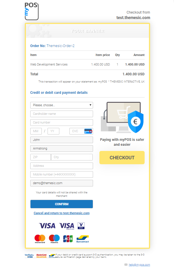 myPOS Payment Gateway for Perfex - 1