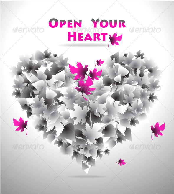 Concept Open Your Heart for Love or for Other  - Conceptual Vectors