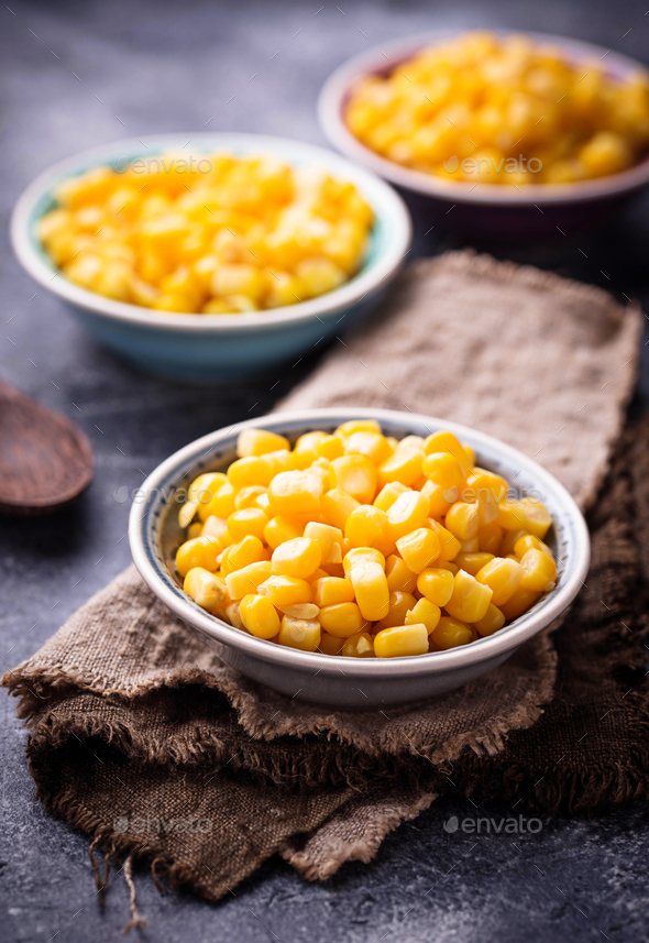 Bowl of  a sweet corn - Stock Photo - Images