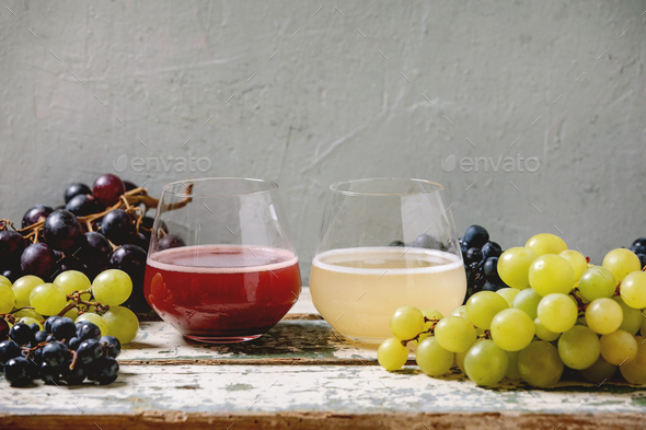 New red and white wine Federweisser - Stock Photo - Images