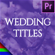 Floral Wedding Titles - Premiere Pro | Mogrt - VideoHive Item for Sale