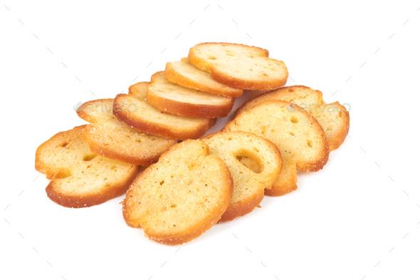 Wheat crackers isolated on white background - Stock Photo - Images
