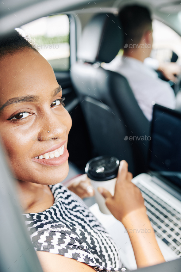 Businesswoman in the car - Stock Photo - Images